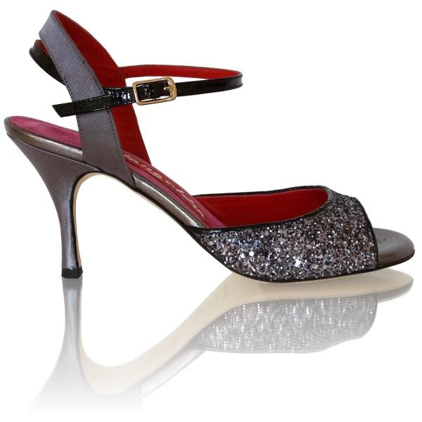 Milonga-Schuhe Tangolera A2B Glitter canna di fucile Seite